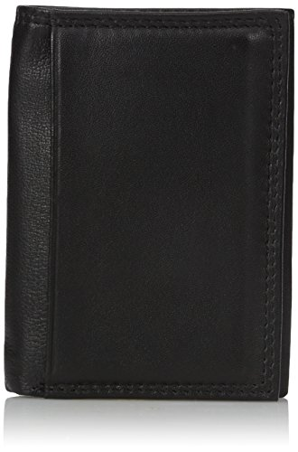 Buxton Men's Emblem - Leather Id Threefold Wallet, black, One ()