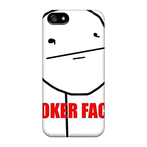 Iphone 5/5s Case Cover - Slim Fit Tpu Protector Shock Absorbent Case (poker Face)