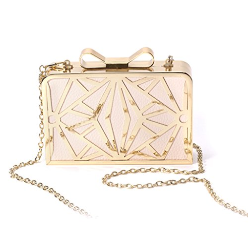 Crossbody JAGENIE Women's Chain Purse Bag Pink Shoulder Prom Pink Wedding Bridal Party Evening qE66CxwpS