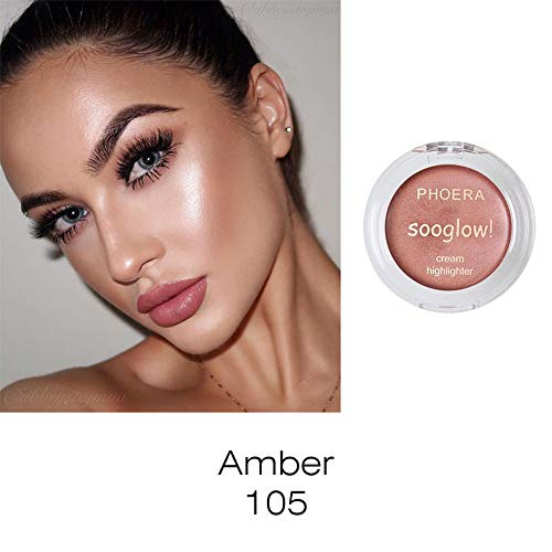 Lowpricenice DaySeventh PHOERA Highlighter Make Up Shimmer Cream Face Highlight Eyeshadow Glow Bronzer (Olive Cream High 1 Pigment)