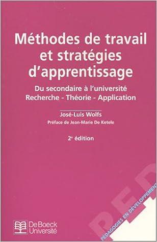 Livre gratuits Méthodes de travail et Stratégies d'apprentissage epub, pdf