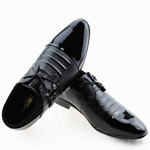 Wedding Partito Casuale Mens Oxford Lace in Scarpe Office 06black Business Flats Up Pelle Guida Vestito Mens Uomo Scarpe PU di ZFgwqPZx