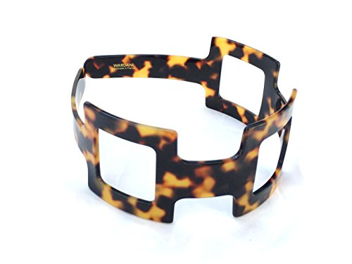 Wide 3 squares eyelet Tortoiseshell headband handmade in France (Tokio)
