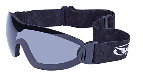Global Vision Eyewear Flare Anti-Fog Goggles with Storage Pouch, Smoke Tint ()
