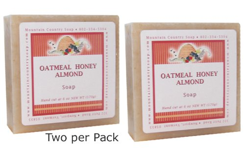 Oatmeal Honey Almond Natural Olive Soap – 6 oz – Pack of 2