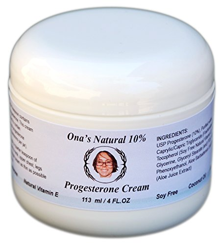 Super Concentrated Natural 10% Progesterone Cream - 4 Oz Jar - Natural Progesterone Skin Cream