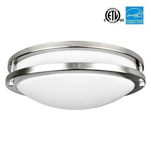 Energy Star Ceiling Light Fixture - Luxrite LED Flush Mount Ceiling Light, 12 Inch, 18W, 5000K (Bright White), Dimmable, 1380 Lumens, Ceiling Light Fixture, Energy Star & ETL, Perfect for Entryway, Living Room, Kitchen, and Bathroom