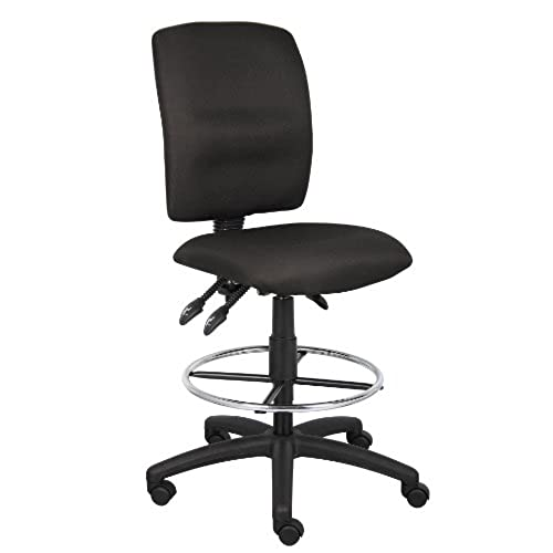 Wonderful Boss Office Products B1635 BK Multi Function Fabric Drafting Stool Without  Arms In Black