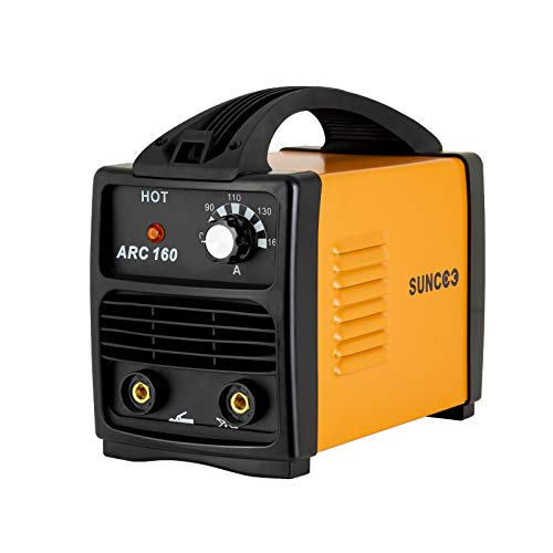 SUNCOO 160A ARC Welding Machine 110V Mini Energy-saving Portable Stick Welder with Mask and Brush Yellow