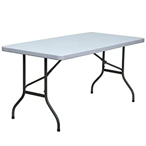 Flash Furniture DAD-YCZ-152-GG 30-Inch Width by 60-Inch Length Blow Molded Plastic Folding Table