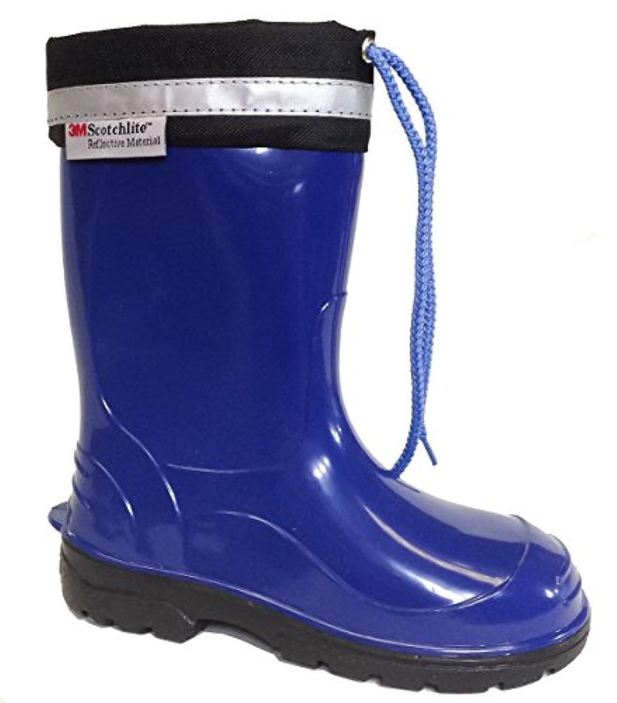 Lemigo Kim Kids Boys Girls Childrens Wellington Boots Rainy Snow Wellies ( 1 UK / 33 EU 210 mm , Red)