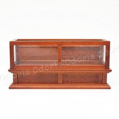 Odoria 1:12 Miniature Brown Bakery Display Cabinet Dollhouse Furniture Accessories: Toys & Games