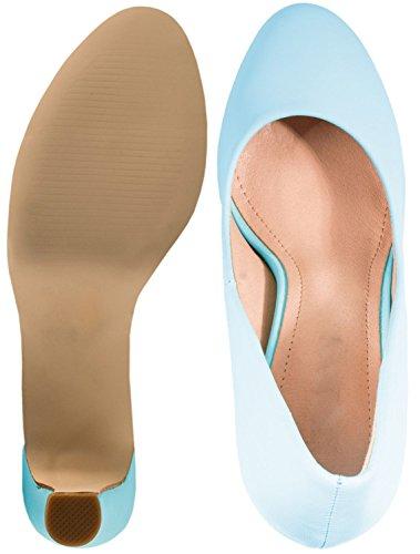 Elara Moderne Damen High Heels | Stiletto Schuhe | Plateau Pumps | Chunkyrayan Blau