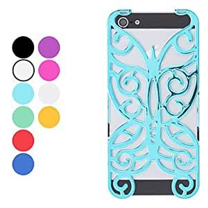 SJT Hollow Out Style Butterfly Design Hard Case for iPhone 5/5S (Assorted Colors) , White