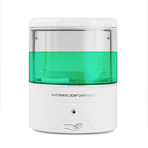 Vingtank Automatic Soap Dispenser, Battery Powered Wall-Mount Sensor Soap Pump Touchless Liquid Infrared Hand Soap Dispenser for Kitchen and Bathroom (600ML-S01)