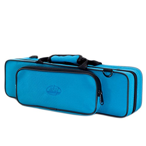 Sky C Flute/Piccolo Combo Case with Shoulder Strap (Blue) (SKYFLC001-BL)