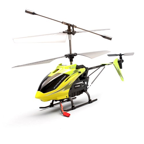 Syma S39 3CH 2.4G RC Remote Control Helicopter Gryo LCD Display Searching Light (Green)