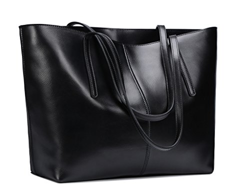 obosoyo-womens-handbag-genuine-leather-tote-shoulder-bags-soft-hot-black