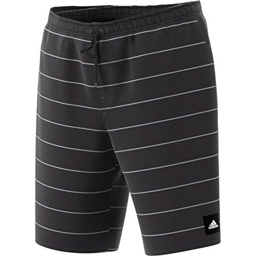 Adidas Stripes Sh Cl Costume da Bagno, Nero (Nero/Bianco), 2XL