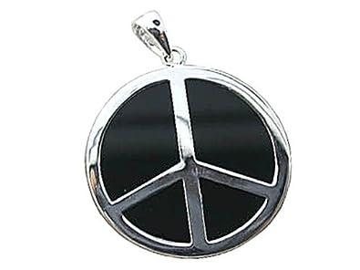 Amazon onyx world peace pendant 925 sterling silver jewelry onyx world peace pendant 925 sterling silver aloadofball Image collections