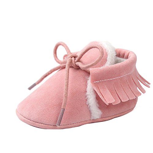 Gaorui Comfy Baby Boys Girls Winter Fur Suede Prewalker Shoes Child Soft Sole Crib Boot (Kids Fur Suede Winter Boot)