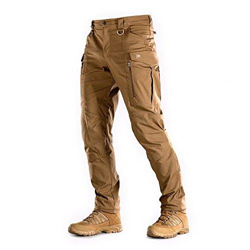 Mens Flex Cord Pant - M-Tac Conquistador Flex - Tactical Pants Men - with Cargo Pockets (Coyote Brown, L/S)