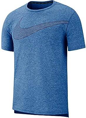 Nike Dri-FIT Breathe - Camiseta de entrenamiento de manga corta para hombre, S, azul: Amazon.es: Ropa y accesorios