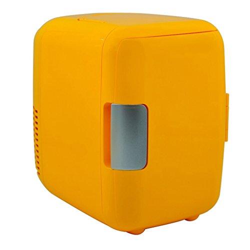 - CL- Car Refrigerator - 4L Car Refrigerator Car Dual-use Mini Portable Refrigeration Heating Breast Milk Cosmetics Student Dormitory Heating and Cooling Box Car refrigerato (Color : Orange)