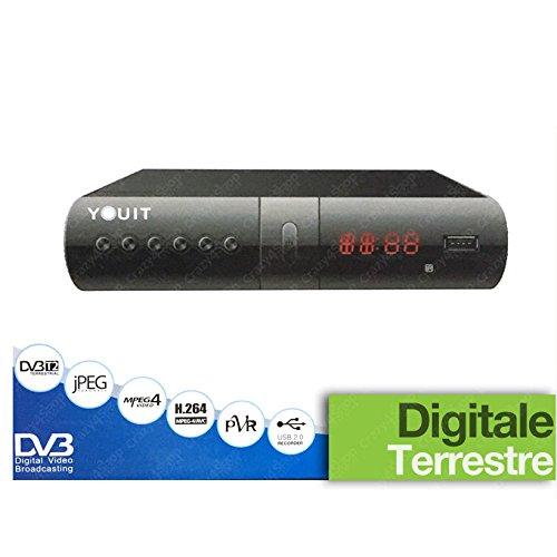 48 opinioni per DECODER DIGITALE TERRESTRE RICEVITORE DVB-T2 FULL HD SCART USB E HDMI MPEG4 JPEG