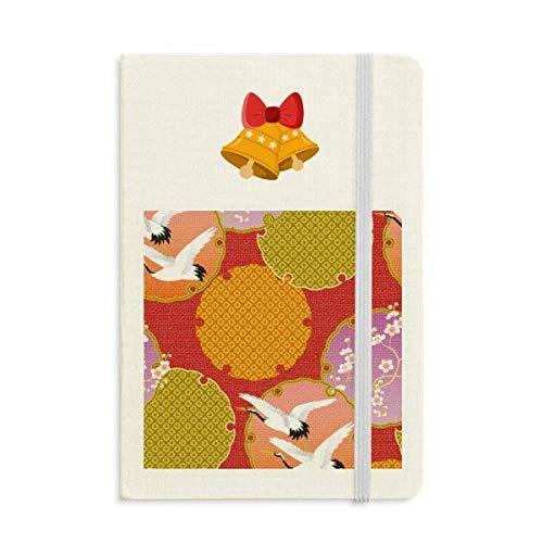 Japan Art Japanese Style Crane Notebook Journal Christmas Jingling Bell