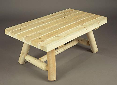 - Cedarlooks 020090A Log Rectangular Coffee Table