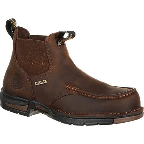 (Georgia GB00156 Mid Calf Boot, Dark Brown, 11 M US )