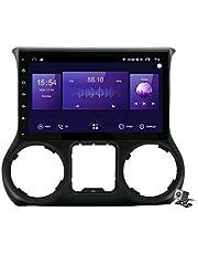 Sat Android 10.0 Auto Stereo GPS, Radio voor Jeep Wrangler 3 JK 2011-2017 Navigatie Touchscreen Head Unit MP5 Multimediaspeler Video-ontvanger met 4G / 5G WIFI DSP RDS FM Mirrorlink