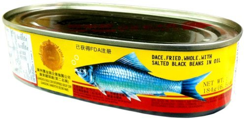 Eagle Coin WHOLE FRIED DACE with SALTED BLACK BEANS IN OIL 6.5oz (2 Pack)