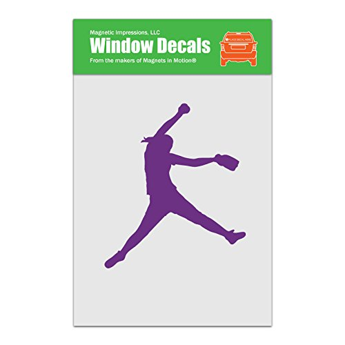 (Magnetic Impressions Softball Pitcher Car Window Decal Lavender)
