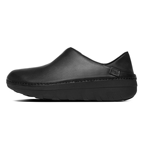 Fitflop Superloafer (Leather), Zuecos para Mujer All Black leather - 090