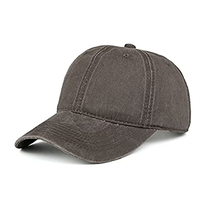 Coffee Vintage Washed Dyed Cotton Twill Low Profile Adjustable Baseball Cap Unisex couple cap Fashion Leisure Casual HAT Snapback cap