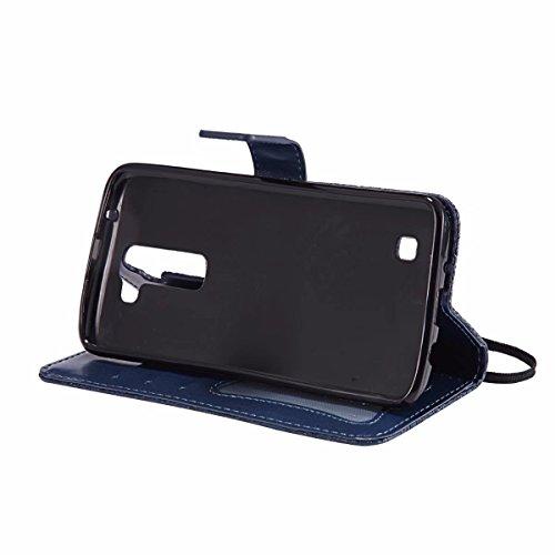 Stand K7 Protecteur Etui Herbe Laybomo Magnétique Pochette profond Bumper Flip Chanceuse pour TPU Cuir Housse Gris Coque Bleu Doux LG K7 Cadre LG Photo X210 X210 Etui Silicone Cover Poche qZUwX4gZx
