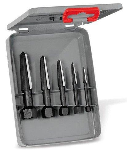 Rennsteig 9R 471 901 3 Screw Extractor Double Edge Set in Metal Case, Size 1-5, Black by Rennsteig