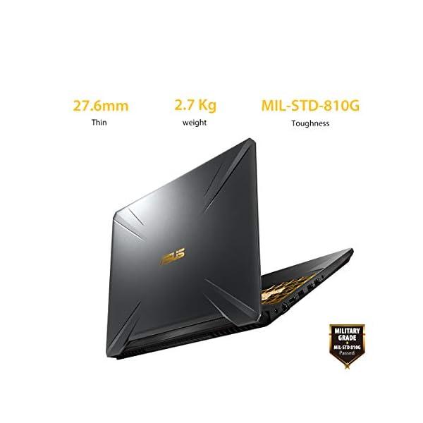 "ASUS TUF Gaming FX705DT-AU016T 17.3"" FHD Laptop GTX 1650 4GB Graphics (Ryzen 7-3750H/8GB RAM/512GB NVMe SSD/Windows 10/2.70 kg), Gold Steel"