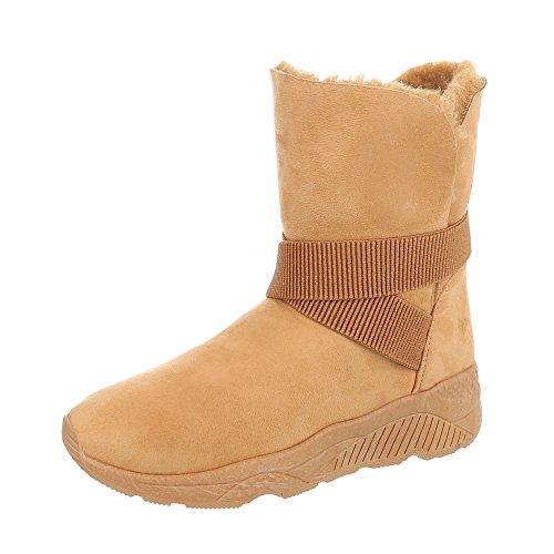 Zapatos para mujer Botas Plano Botas clásicas Ital-Design Braun