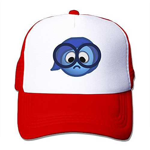 MZONE Personalized Two-toned Visor Cap Sadness Cartoon Character Fishing Caps Red (Cartoon Character Couples)