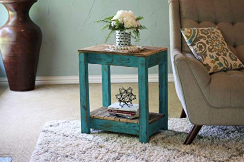 Turquoise Combo End Table