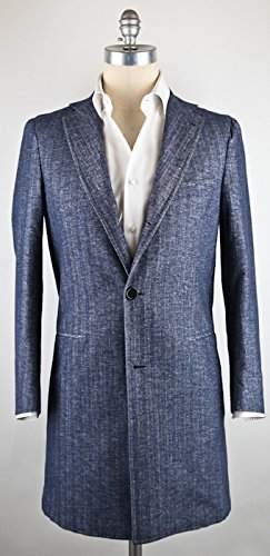New Borrelli Denim Blue Coat 40/50