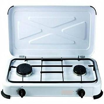 fornello a gas 2 fuochi cucina campeggio