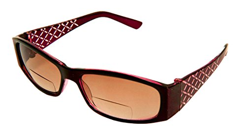 Rodeo i3 Traveler New Style Bifocal Wrap Sun Reader Sunglasses (Burgundy, - Lightly Glasses Non Tinted Prescription