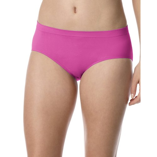 Barely There by Bali Woman Comfort Revolution Microfiber Seamless Hipster Panty Pink 8/9
