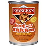 EVANGER'S 12-Pack Natural Classic Beef with Chicken Supplement for Dogs, 13-Ounce, My Pet Supplies
