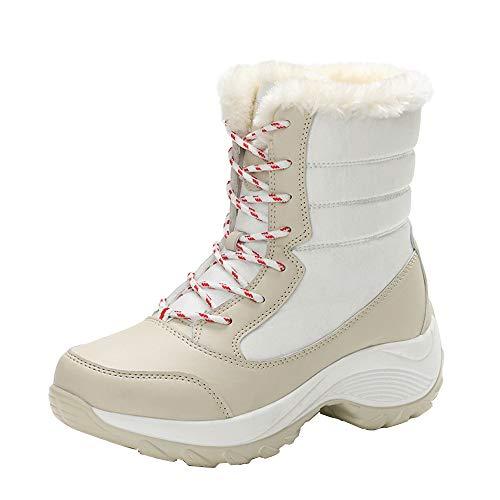 hot XUANOU Women Anti-Slip Waterproof Boots Ankle Boots Footwear Thick Fur Boots Platformsnow supplies
