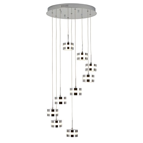 Artika La Creme 36-Watt Chrome Integrated LED Pendant